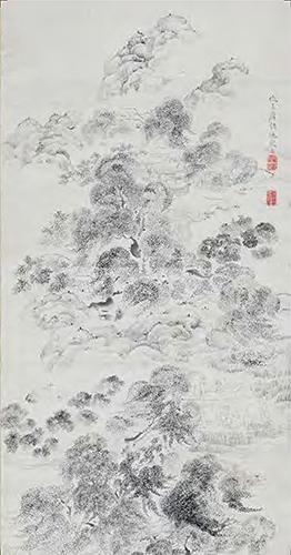 大判はがき】重要文化財 魚楽図(部分)池大雅筆