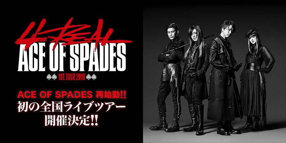 "ACE OF SPADES 1st. TOUR 2019 ""4REAL"""