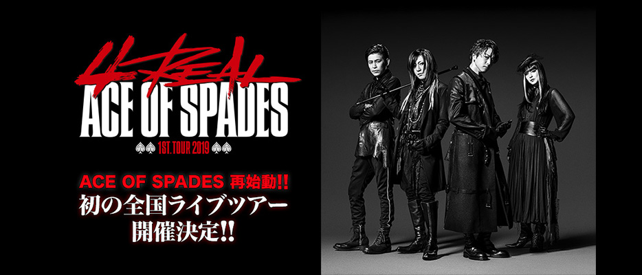 """ACE OF SPADES 1st. TOUR 2019 """"4REAL"""""""