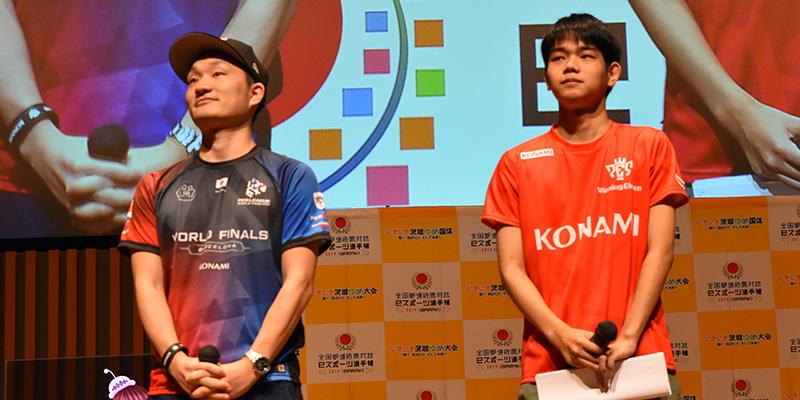 解説のMayageka選手とスペシャルゲストの相原翼(レバ)選手