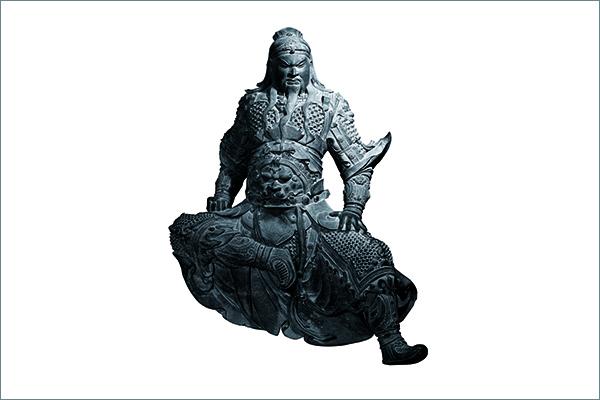 1 関羽像 青銅 明時代・15~16 世紀 新郷市博物館蔵