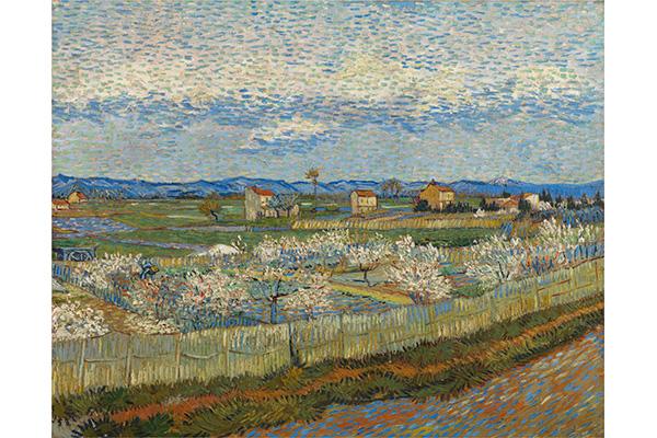 フィンセント・ファン・ゴッホ《花咲く桃の木々》