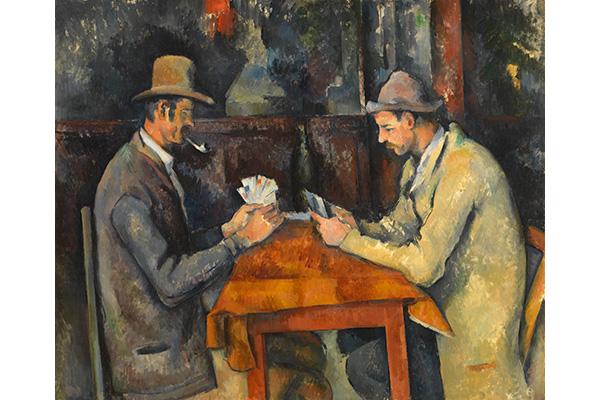 ポール・セザンヌ《カード遊びをする人々》