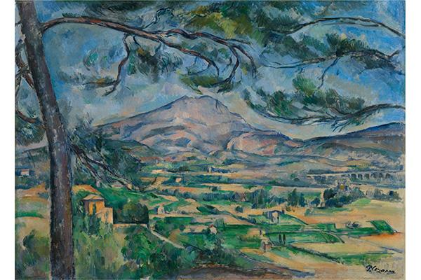 ポール・セザンヌ《大きな松のあるサント=ヴィクトワール山》