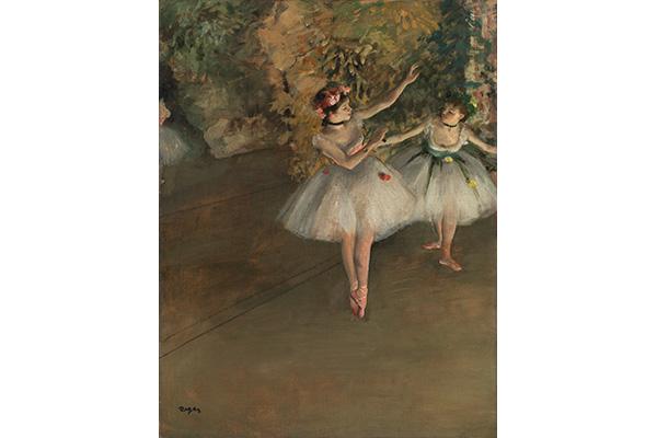 エドガー・ドガ《舞台上の二人の踊り子》