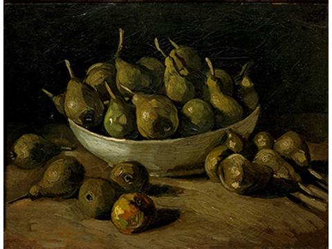 フィンセント・ファン・ゴッホ《陶器と洋梨のある静物》