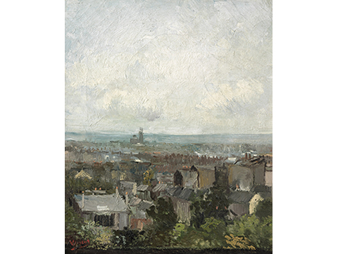 フィンセント・ファン・ゴッホ《パリの屋根》