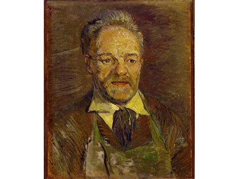 フィンセント・ファン・ゴッホ《タンギー爺さんの肖像》