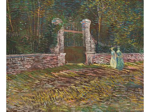 フィンセント・ファン・ゴッホ《アニエールのボワイエ・ダルジャンソン公園の入口》