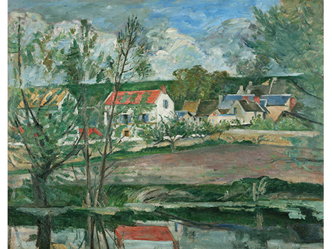 ポール・セザンヌ《オワーズ河岸の風景》