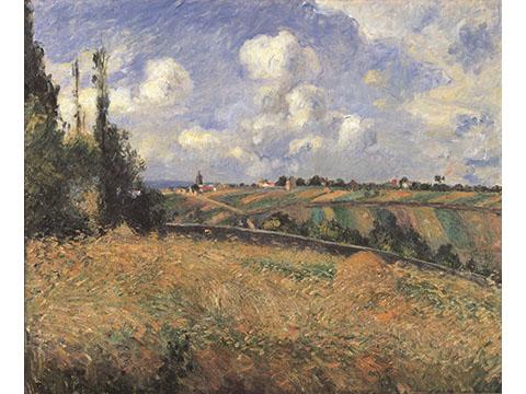 カミーユ・ピサロ《ライ麦畑、グラット=コックの丘、ポントワーズ》