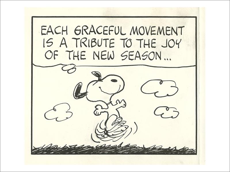 ピーナッツ」原画1972年3月20日