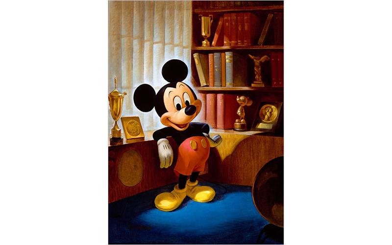 ジョン・ヘンチ画 ミッキーマウスのポートレート(1953年)