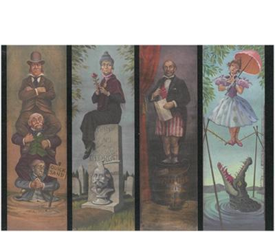 「ホーンテッド・マンション」「伸びる肖像画の部屋」に登場する4枚の絵