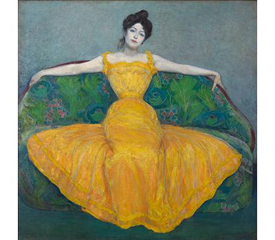 マクシミリアン・クルツヴァイル《黄色いドレスの女性(画家の妻)》