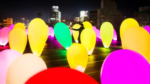 チームラボ 森と湖の光の祭 メッツァビレッジ 埼玉県飯能市