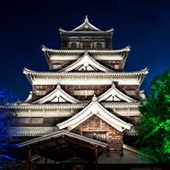 広島・チームラボ広島城光の祭