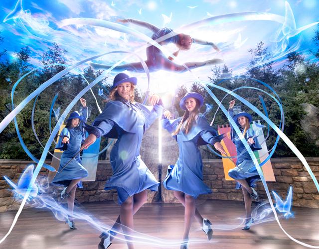 魔法学校の生徒たちのパフォーマンスも、よりいっそう華やかに!