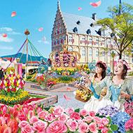 長崎・ハウステンボス 花の祭典「フラワーフェスティバル」開催中