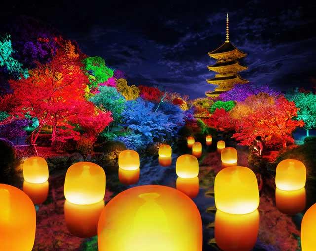 チームラボ 東寺 光の祭 - TOKIO インカラミ