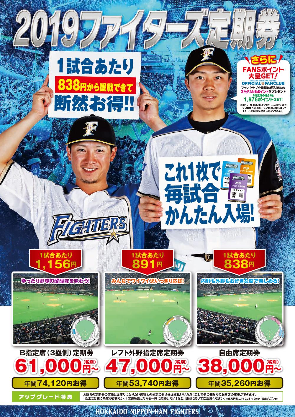 北海道日本ハムファイターズ 定期券